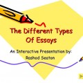 Ultimate Guide To Different Essay Types